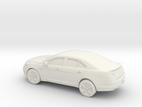 1/87 2010 Ford Taurus SHO in White Strong & Flexible