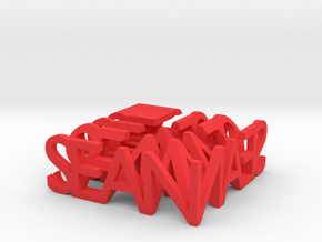 2-Way Word Sculpture in Red Strong & Flexible Polished