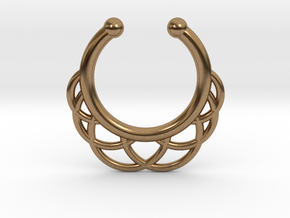 Faux Septum Ring 6 Outer Semicircles in Raw Brass
