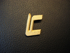 LC Logo in Polished Gold Steel