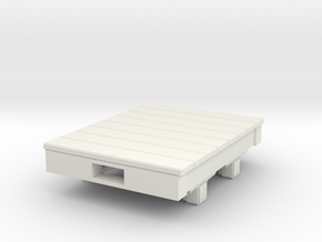 Gn15 small 4ft flat wagon in White Strong & Flexible
