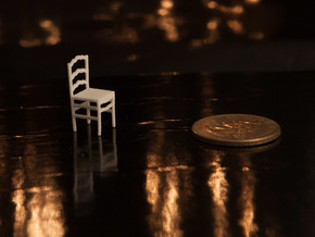 1:48 Ladderback Campagna Chair in White Strong & Flexible