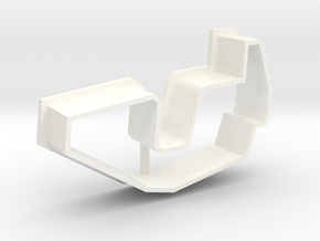 "Cookie Cutter ""Break Dance"" - just shape in White Strong & Flexible Polished"