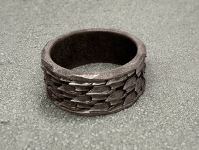 Shark skin ring (various sizes) in Stainless Steel