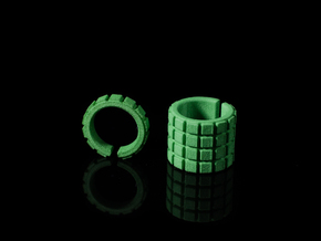'RUFFLED' SHORT - Ø 17 - OPEN EDGE SERIES in Green Strong & Flexible Polished