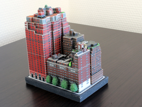 New York set 3 Tudor City 3 x 4 in Full Color Sandstone