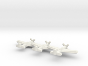 P-51D/Mustang IV (Triplet) 1/900 in White Strong & Flexible