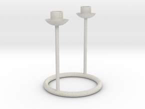 Candlestick for 2 table candles 21-22mm/Kandelaar  in Full Color Sandstone