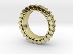 Bullet ring(size is = USA 7.5-8) in 18k Gold