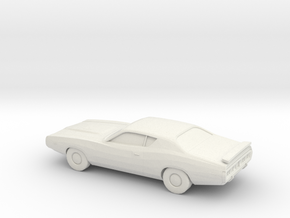 1/87 1974 Dodge Charger in White Strong & Flexible
