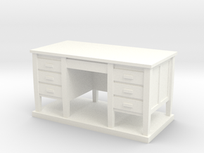 Miniature 1:48 Desk in White Strong & Flexible Polished