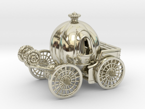Pumpkin carriage�LV2 in 14k White Gold