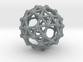 Snub Dodecahedron (left-handed) in Polished Metallic Plastic