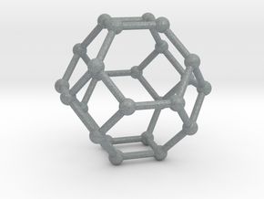 Truncated Octahedron in Polished Metallic Plastic