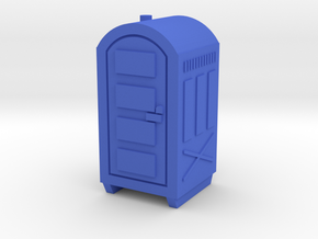 N Scale Portable Toilet in Blue Strong & Flexible Polished