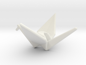 Origami Crane in White Strong & Flexible