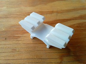 Two-Picatinny-Rails Adapter in White Strong & Flexible