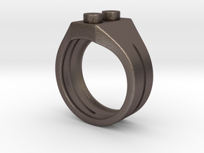 Brick Ring in Stainless Steel