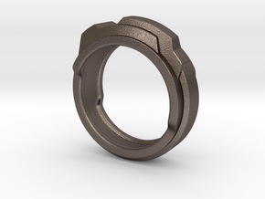 Techno ring in Stainless Steel