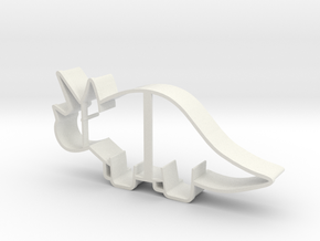 Triceratops Cookie Cutter (smaller Version) in White Strong & Flexible