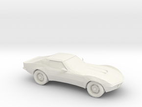1/87 1969 Corvette C3 Stingray in White Strong & Flexible