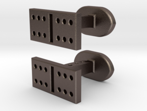 Domino Cufflinks in Stainless Steel