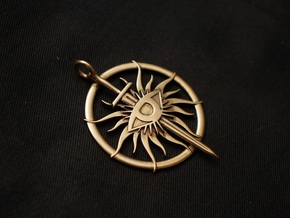 Pendant of The Inquisitor in Polished Brass