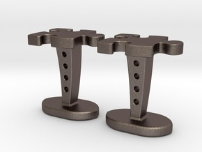 Puzzle cufflinks in Stainless Steel