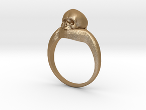 150109 Skull Ring 1 Size 9  in Matte Gold Steel