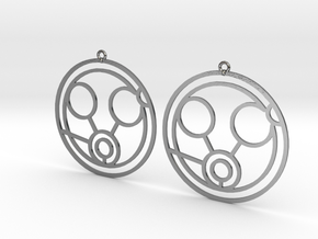 Megan - Earrings - Series 1 in Polished Silver