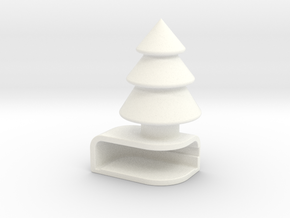 Iphone5C Tree in White Strong & Flexible Polished