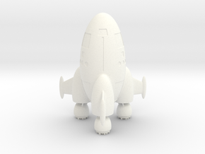 Egg Hull-2-W Gear And Fins in White Strong & Flexible Polished