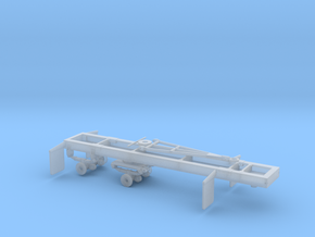 1/87th HO Scale Short log Logging trailer in Frosted Ultra Detail