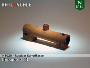 Rostiger Dampfkessel (N 1:160) in White Strong & Flexible