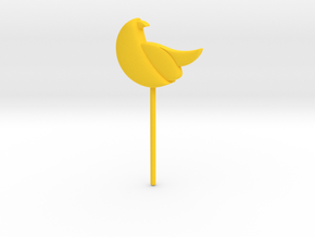 Bird Topper in Yellow Strong & Flexible Polished