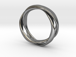 3-Twist Ring in Polished Silver