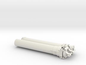 XL Linear Actuator 18 studs stroke v1.1 in White Strong & Flexible