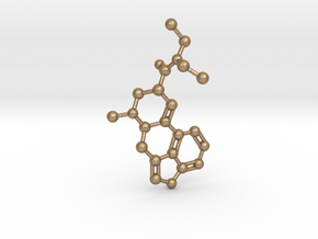 LSD Molecule Pendant BIG in Matte Gold Steel
