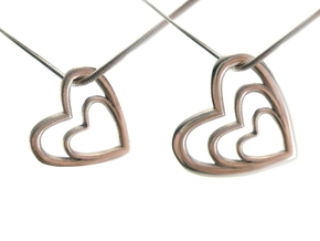 Heart Necklace - Customizable in Polished Silver