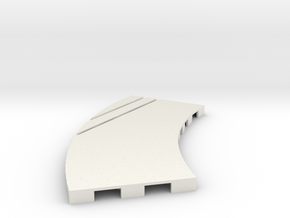 P-65stp-curve-lh-junction-outer-145r-100-pl-1a in White Strong & Flexible