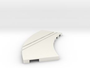 P-65stp-curve-lh-junction-inner-145r-100-pl-1a in White Strong & Flexible