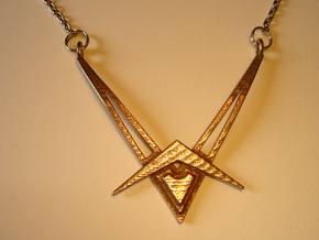 V12 Necklace Pendant in Stainless Steel
