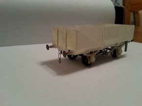 OO scale LMS  13 Ton high sided goods wagon in Frosted Ultra Detail