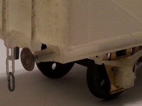 LMS axlebox, springs, couplings and buffer bodies in Frosted Ultra Detail