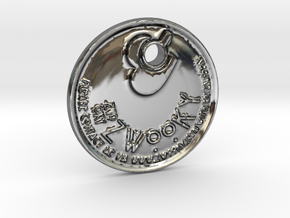 "ZWOOKY Style 122 Sample - keychain ""I am single""   in Premium Silver"