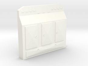 1/64th Scale Cabinet Headache Rack # 1 in White Strong & Flexible Polished