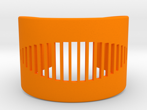 Wrist Cuff - pattern cutout (extra small) in Orange Strong & Flexible Polished