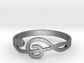 Size 10 G-Clef Ring  in Premium Silver