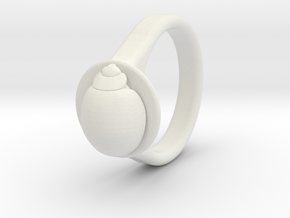 Ladybird Ring (16) in White Strong & Flexible