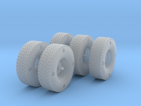 1/35 scale BFG wheel set MENG Hilux kit. in Frosted Ultra Detail